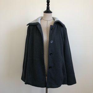 Jackets & Blazers - Charcoal grey plus size jacket